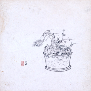 Painting by Chen Hongshou.